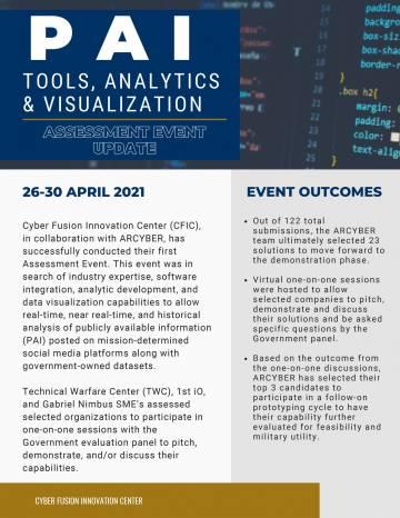 PAI Assessment Event Update